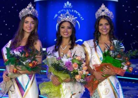 Miss Supranational 2013 Mutya Datul (center) with 2nd runner up Miss Turkey (left) and 1st runner up Miss Mexico (right) [Photo courtesy of Global Beauties]