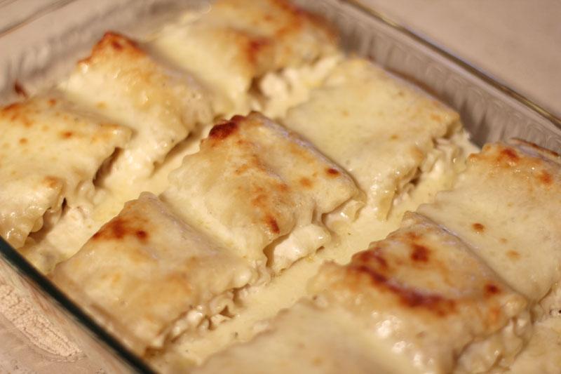The Gano's: Chicken Alfredo Lasagna Roll Ups