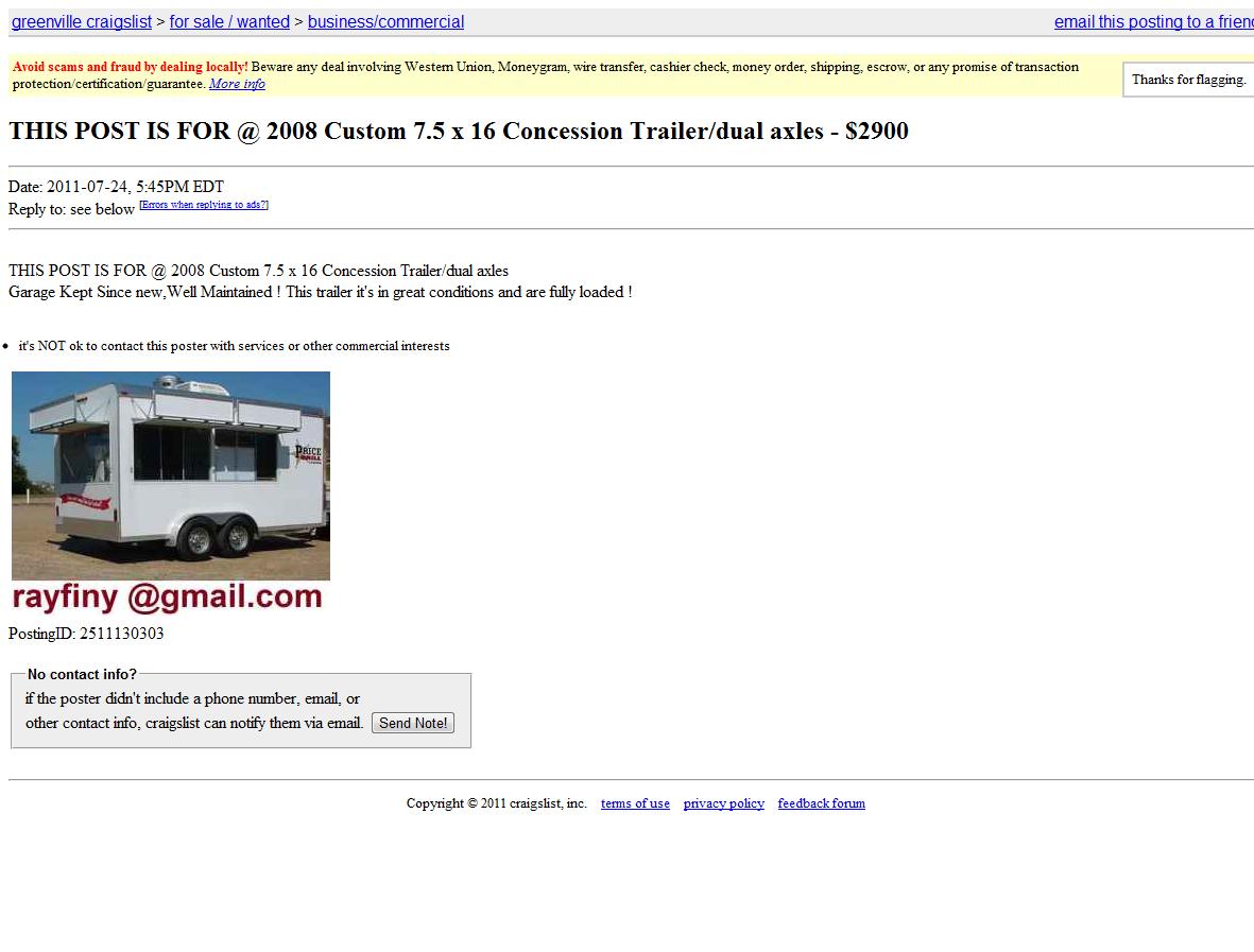 Internet Scammers: Jul 12, 2011