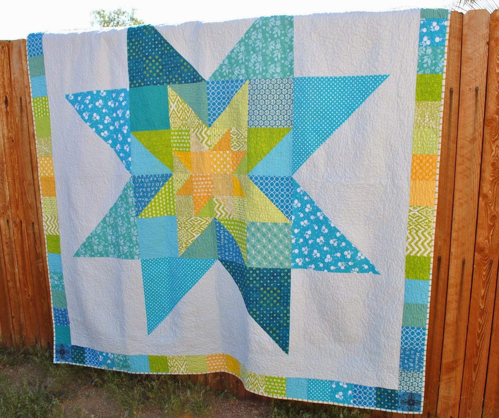 star in star scrappy quilt