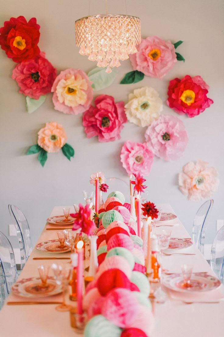 Lush fab glam blogazine fabulous summer party decor ideas for Flower decoration made of paper