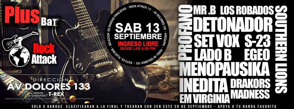 rock attack en arequipa