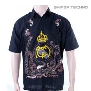 Gambar Baju Batik Bola Real Madrid