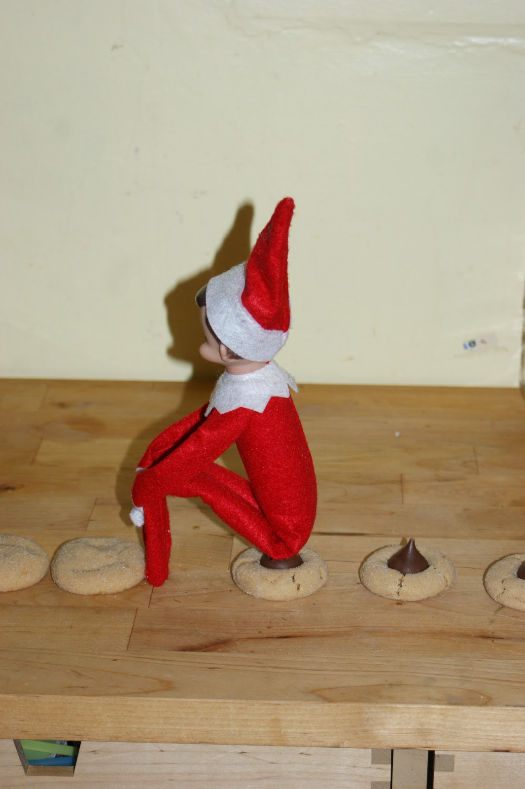 A holiday high five from ashley to awesome for Elf on the shelf pooping on cookies