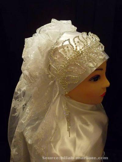 Tendance bijoux pour hijab mariée