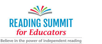 "This is a picture of the logo for the Reading Summit for Educators. it reads the title of the even and ""Believe in the power of independent reading."""