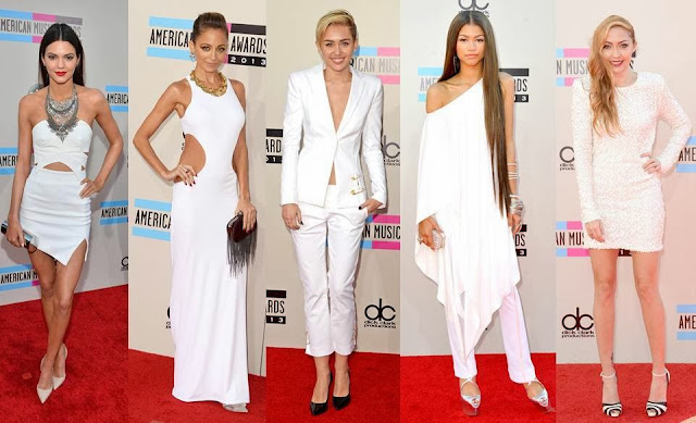 white out kendall jenner nicole richie miley cyrus amas