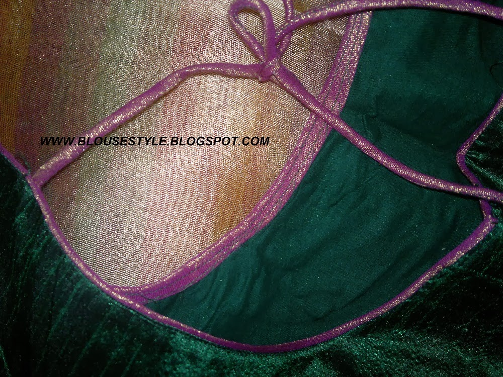 THREAD PIPING WORK BLOUSE