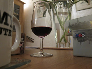 A photo with wine and coffee but no Munchies!