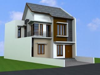 Desain Rumah Minimalis 2 Lantai Type 21