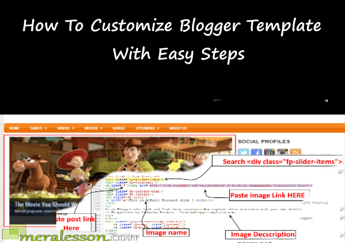 How To Customize Blogger Template With Easy Steps - Meralesson ...