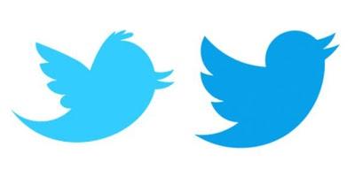 Simbol Twitterbird (kanan) menggantikan Larry yang digunakan oleh Twitter sejak enam tahun lalu.