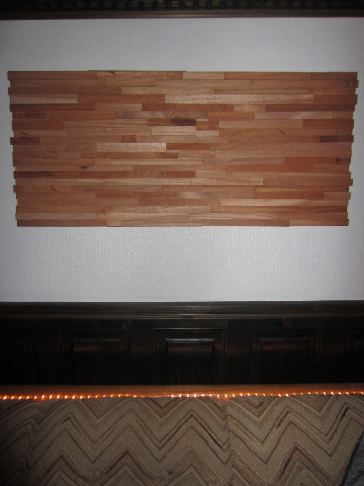 Wooden Wall Covering : Relaxshacks wood shims as a wall covering art