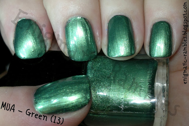 Swatch-MUA-Green-13-Nail-Polish