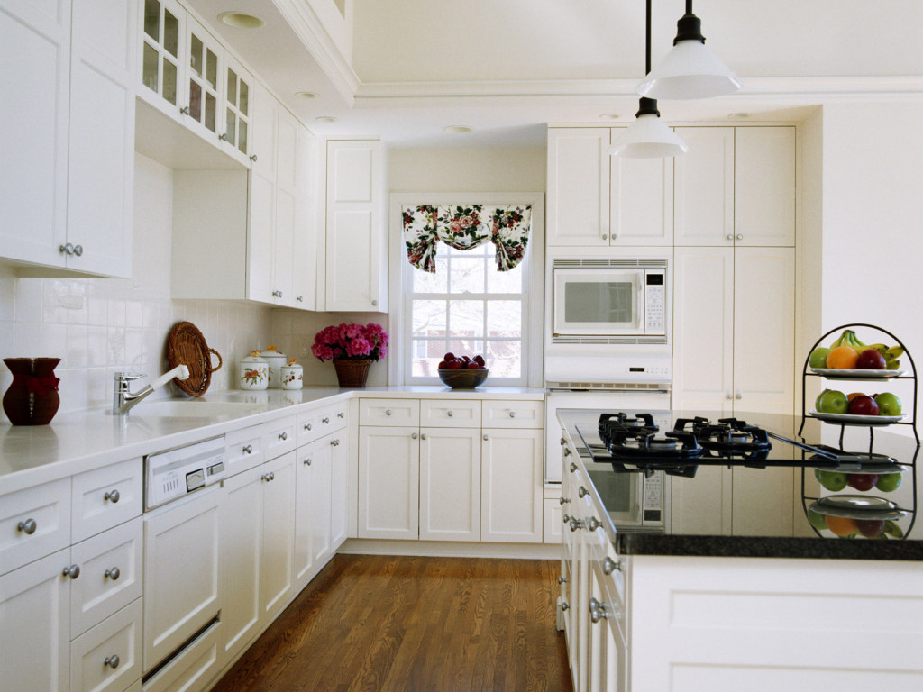 White Kitchen with White Cabinets