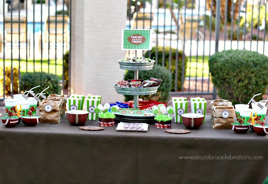 Creative Party Ideas By Cheryl Superbowl Snack Table Idea