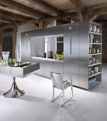 Cadeira de cozinha em inox