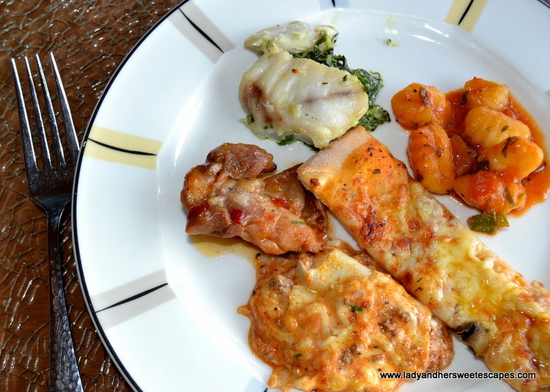 Italian fare from La Moda during the Eid brunch