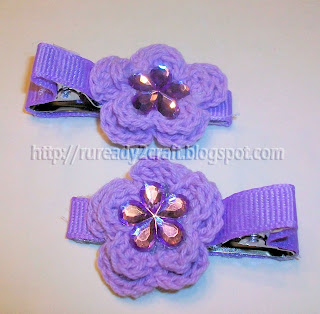 DIY embellished Crochet Hair Clip