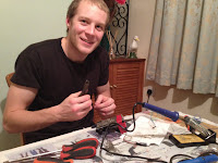 STRATODEAN - Graham helping with the soldering