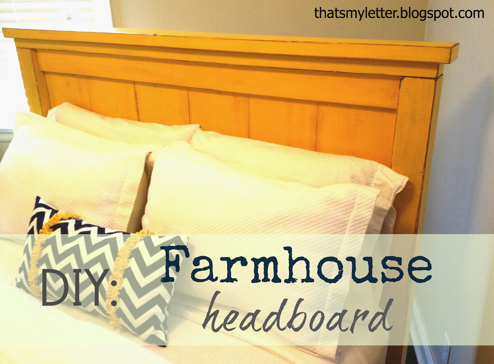 vintage yellow queen size Farmhouse headboard: