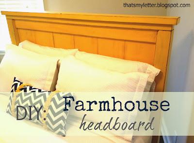 vintage yellow queen size Farmhouse headboard: