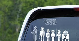 Parenting Geekly Star Wars Family Decals Are Way Cooler Than The - Star wars family car decals