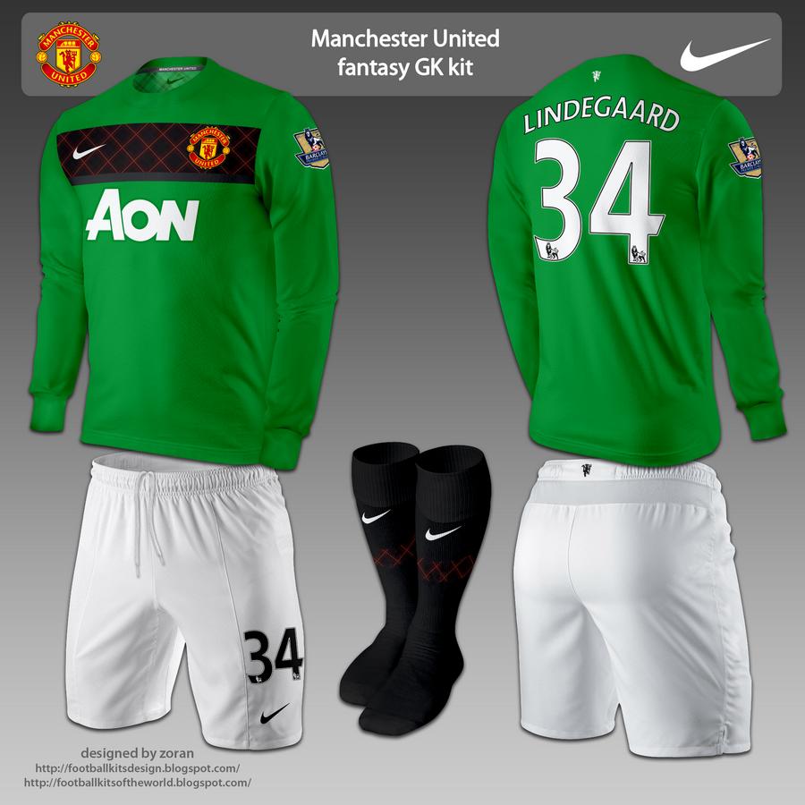 Football kits design manchester united fantasy goalkeeper kits