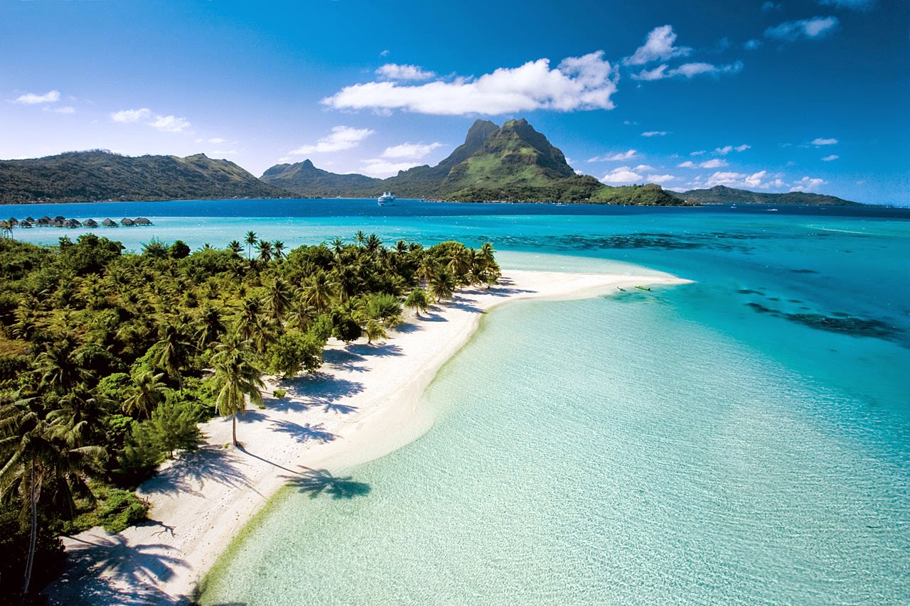 Matira Beach Bora Bora Tahitian Islands