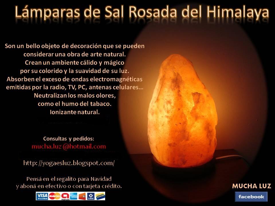 Mi alma zen l mparas de sal rosada del himalaya - Piedra de sal del himalaya ...