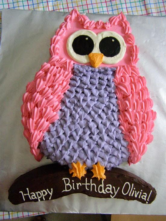 Owl Cupcake Cake For Girls Birthday
