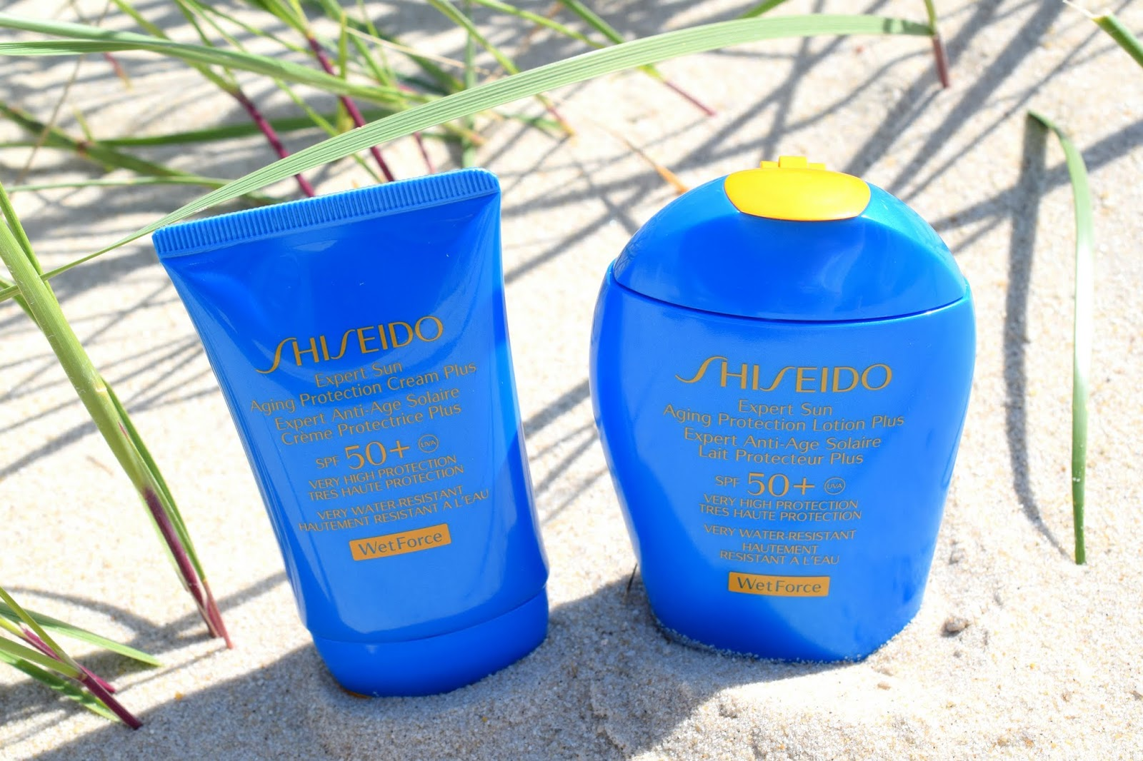 Shiseido Expert Sun Aging Protection Lotion und Cream SPF50+ WetForce