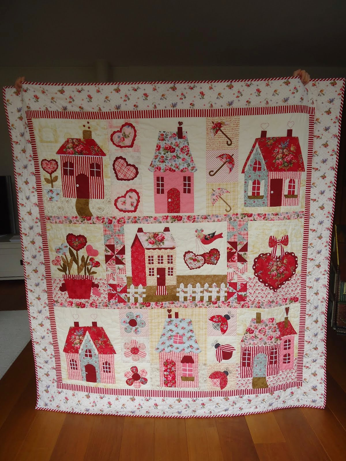 Sweetheart Houses Quilt