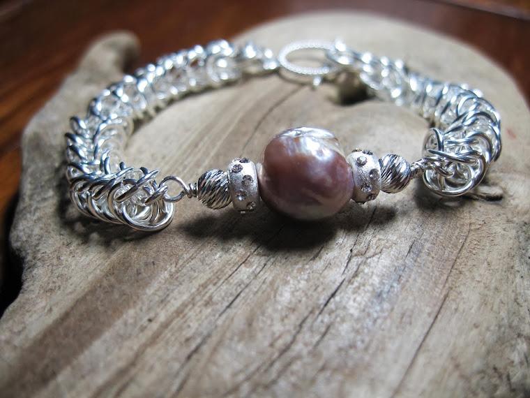 Kasumi Pearl box Chain bracelet