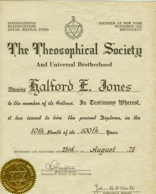 My membership Certificate