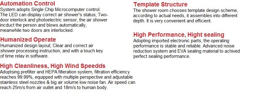 China modular clean room air showerFFUlaminar flow benchclean