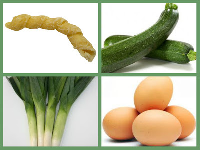 fusilli zucchine e porri mantecati all'uovo