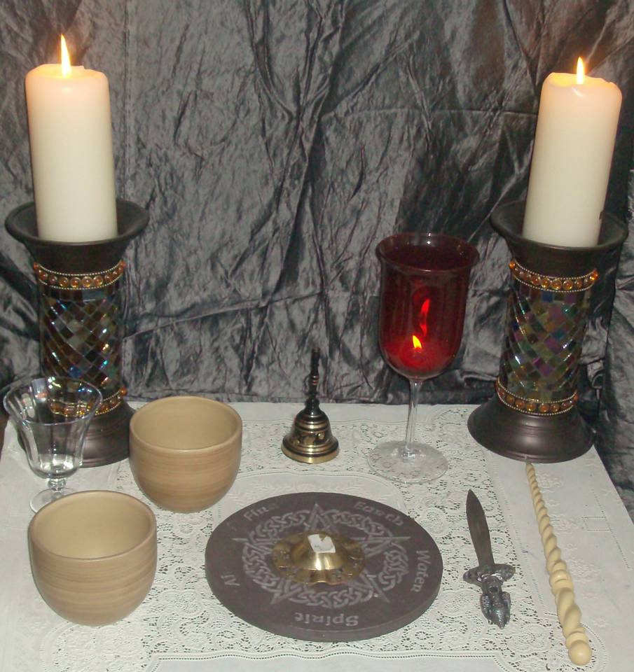 ritual items in wiccan practice is the altar upon which ritual tools
