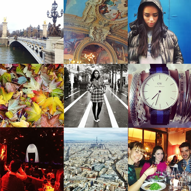 Instagram photos of a fashion blogger in Paris