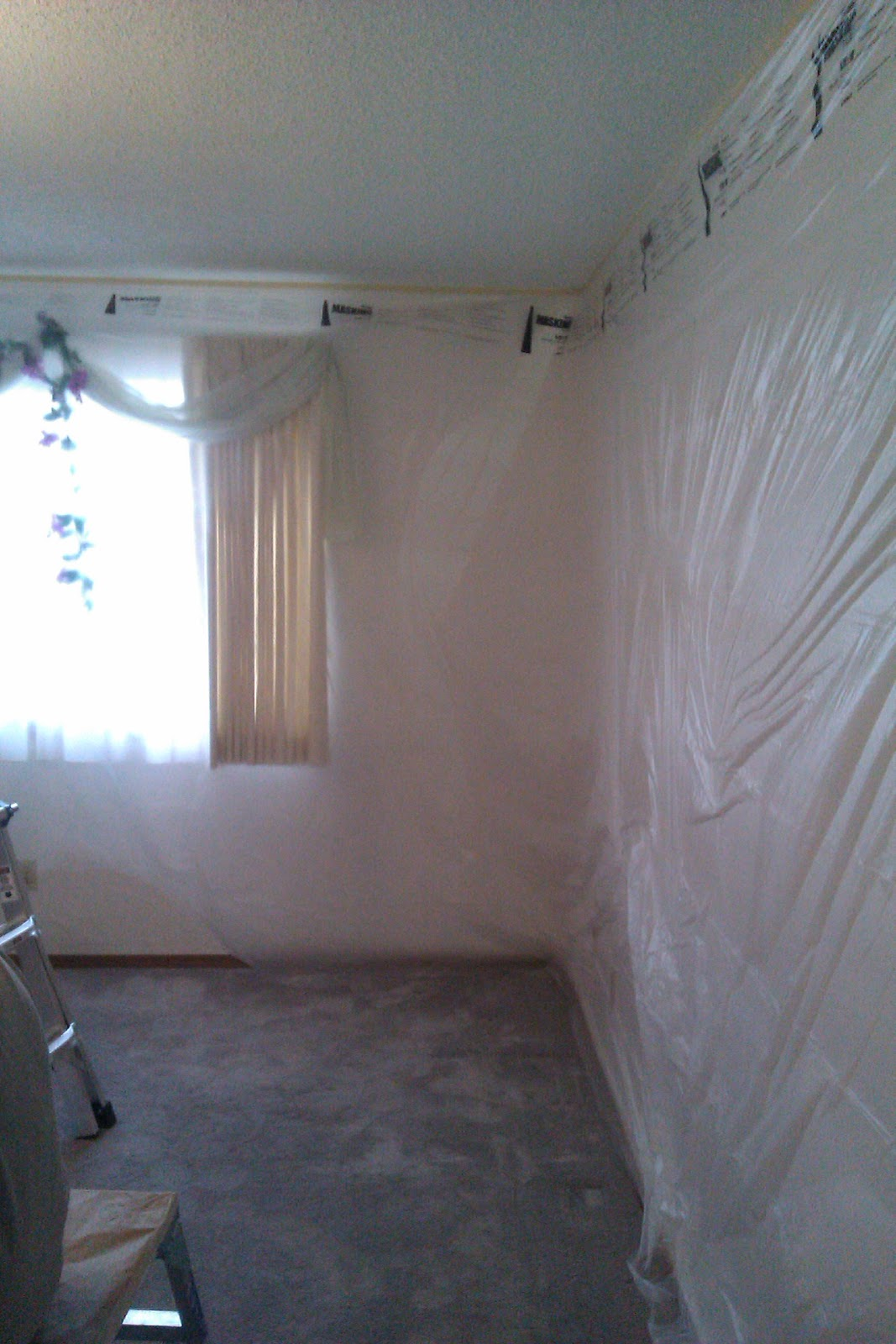 How to prep to paint a ceiling with 3m film house Rules for painting ceilings