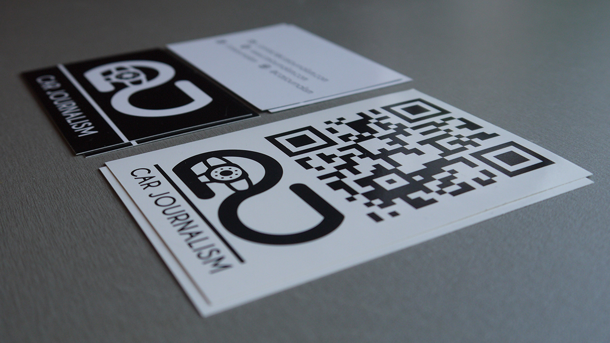 Designing a Business Card for Car Journalism