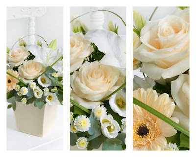 Interflora, Cream Flower Bouquet, Gerbera Daisies