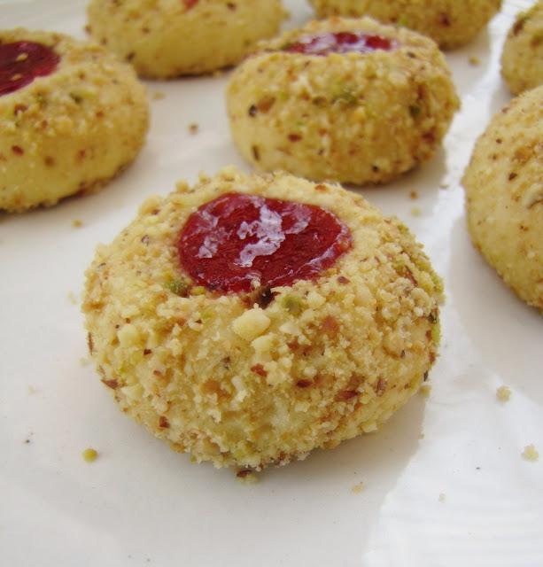 Delicious Eggless Thumbprint Jam Cookies