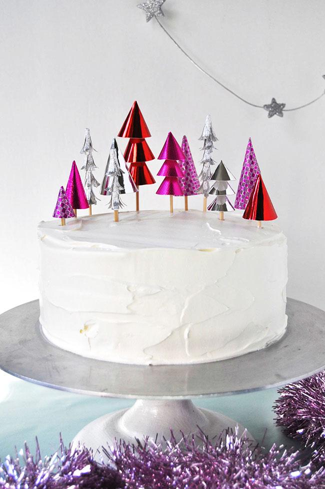 Christmas Forest Cake Topper