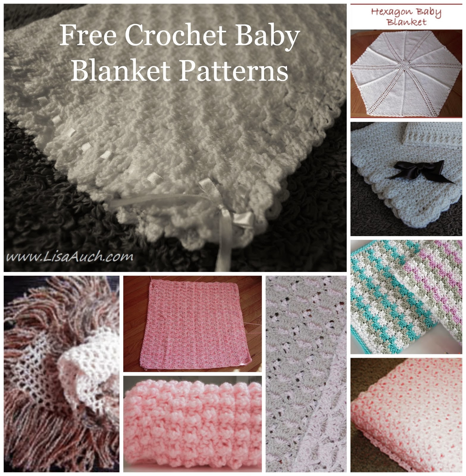 New Free Crochet Baby Afghan Patterns : 10+ FREE Crochet Patterns for Baby Blankets {Baby Afghan ...