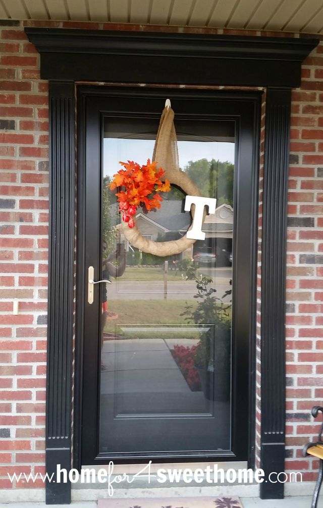 Home For4 Sweet Home Diy Fall Decor Burlap Wrapped Fall Wreath