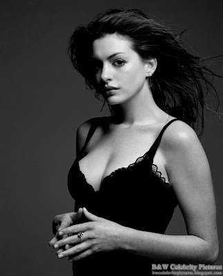 Anne Hathaway photoshoot for Vanity Fair magazine - black and white - pic 1