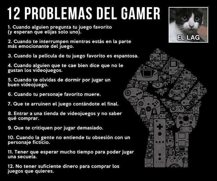 Problemas del gamer