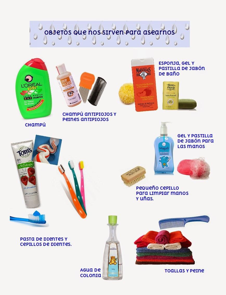 Infancia y salud la higiene personal en ni os de 2 y 3 a os for Imagenes de utiles de aseo