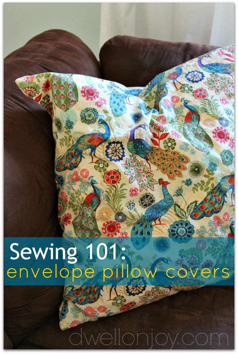 sewing 101 envelope pillow covers. Black Bedroom Furniture Sets. Home Design Ideas
